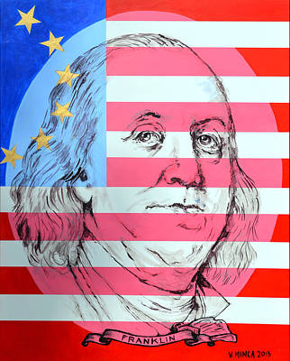 Benjamin Franklin Original by Victor Minca