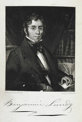 Benjamin Lundy Print by British Library