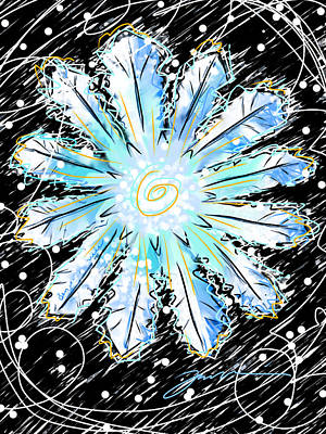 Painting - Benjamin Snowflake by Jean Pacheco Ravinski