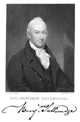 Autographed Photograph - Benjamin Tallmadge by Granger