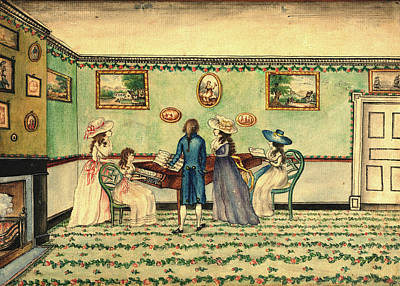 Benjamin Drawing - Benjamin Thompson, Harpsichord Recital At Count Rumfords by Litz Collection
