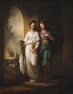 Two Ladies Painting - Fidelia And Speranza by MotionAge Designs