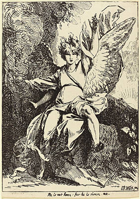 Benjamin Drawing - Benjamin West American, 1738 - 1820, Angel by Quint Lox