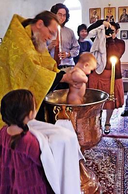 Photograph - Benjamin's Baptism by Sarah Loft