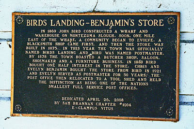 Photograph - Benjamins Store At Birds Landing  by Joseph Coulombe