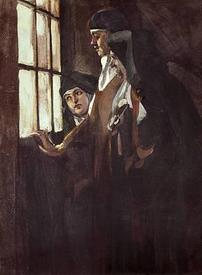 1916 Photograph - Benlliure Ortiz, Jos� 1884-1916. Nuns by Everett