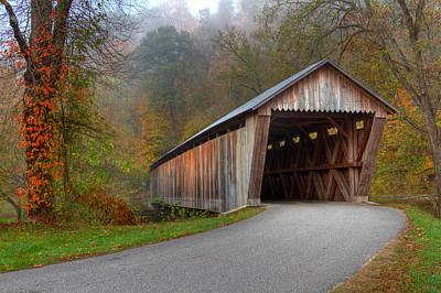 Photograph - Bennett Mill Covered Bridge by Jack R Perry