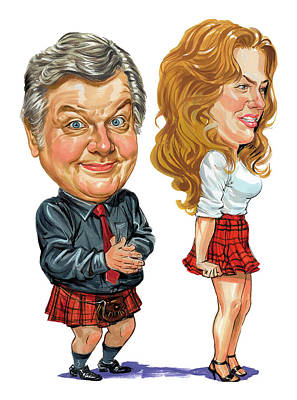 Comics Royalty-Free and Rights-Managed Images - Benny Hill by Art