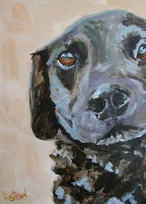 Dog Portrait Painting - Benny by Kellie Straw