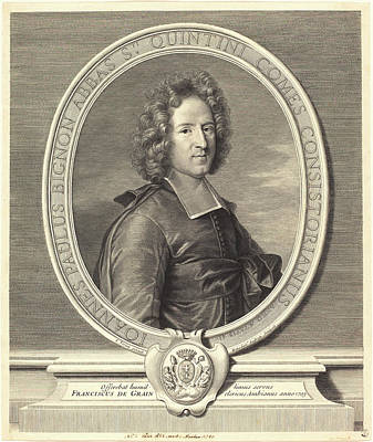 Benoît Audran I After Joseph Vivien, French 1661-1721 Art Print