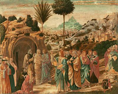 Raising Drawing - Benozzo Gozzoli, The Raising Of Lazarus, Italian by Quint Lox