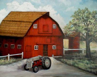 Painting - Bens Barn by Kendra Sorum