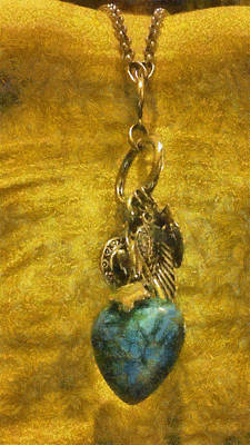 Bensen Turquoise Heart Art Print by Lorri Crossno