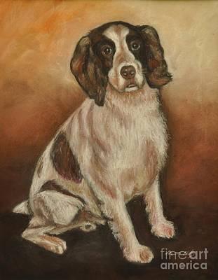 Painting - Benson - English Springer Spaniel by Heather Kertzer