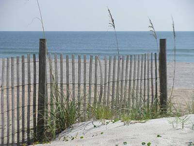 Photograph - Bent Beach Fence by Ellen Meakin