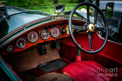 Steering Digital Art - Bentley 3 Litre by Adrian Evans