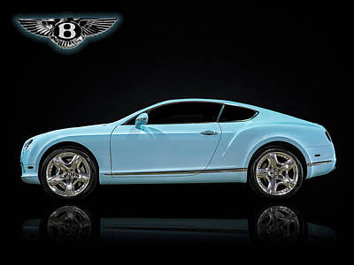 Digital Art - Bentley Blues by Douglas Pittman