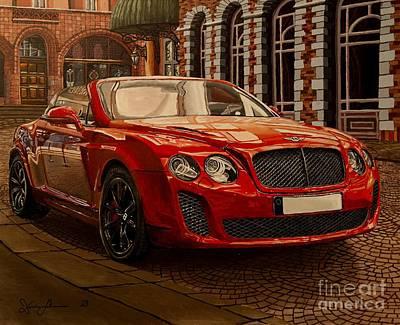 Sportscar Painting - Bentley Continental by Damir Selmanovic