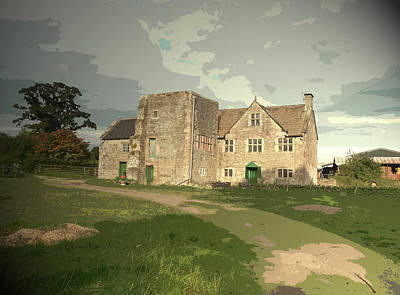 Bentley Old Hall In Fenny Bentley, Now Named Cherry Orchard Art Print