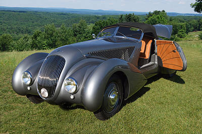 British Hot Rod Photograph - Bentley Roadster B25gp by Bill Dutting