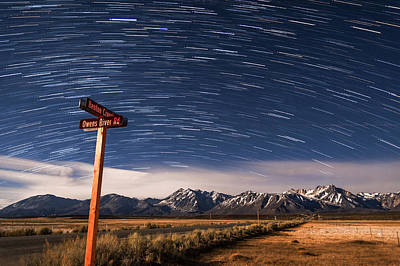 Photograph - Benton Crossing Star Trails by Cat Connor