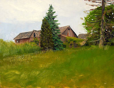 Painting - Bentz Family Farmhouse by Anthony Sell