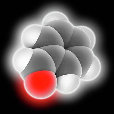 Benzaldehyde Molecule Art Print