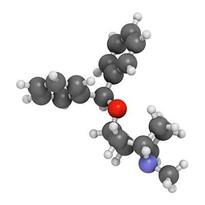 Benzatropine Drug Molecule Art Print by Molekuul