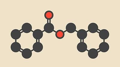 Benzyl Benzoate Drug Molecule Art Print