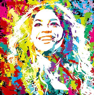 Charity Digital Art - Beyonce by Irina Effa