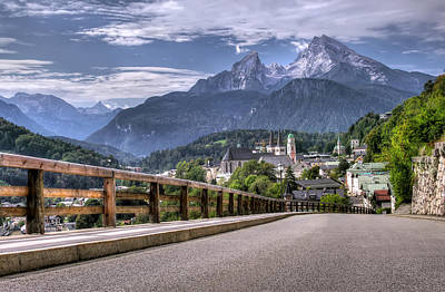 Berchtesgaden Road And Mountain Art Print by Ioan Panaite