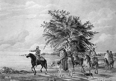 Huron Indian Painting - Berczy Huron Hunters by Granger