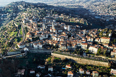Bergamo Aerial View Art Print by Pietro Annoni