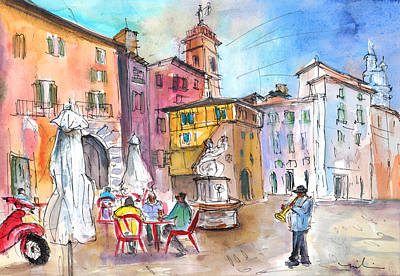 Painting - Bergamo Lower Town 02 by Miki De Goodaboom