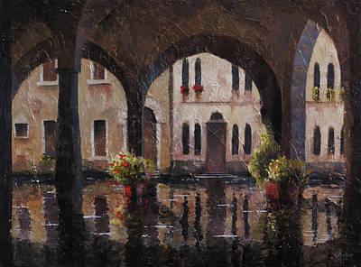 Bergamo Painting - Bergamo Streets Of Water by Christopher Clark