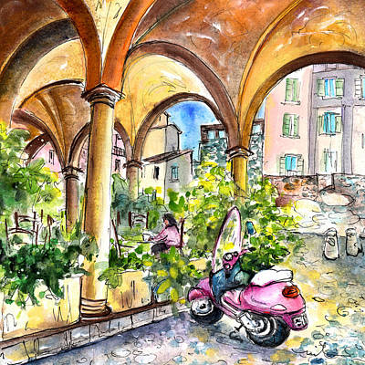 Painting - Bergamo Upper Town 02 by Miki De Goodaboom