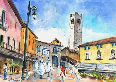 Painting - Bergamo Upper Town 03 by Miki De Goodaboom
