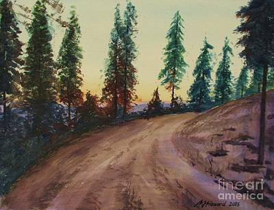 Bergebo Forest Art Print by Martin Howard