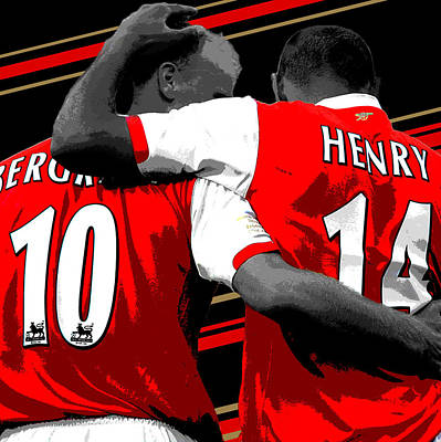 Athletes Photograph - Bergkamp And Henry Arsenal Print by Pro Prints