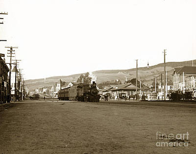 Photograph - Berkeley California Train Station Circa 1902 by California Views Mr Pat Hathaway Archives