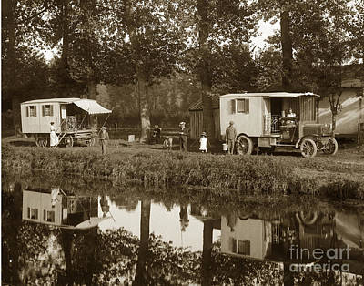Photograph - Berliet C B A French Cba Truck Called The Deam Le Reve France Circa 1913 by California Views Mr Pat Hathaway Archives