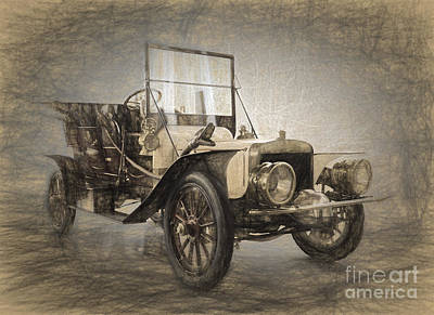 1907 Digital Art - Berliet Double Phaeton by Perry Van Munster