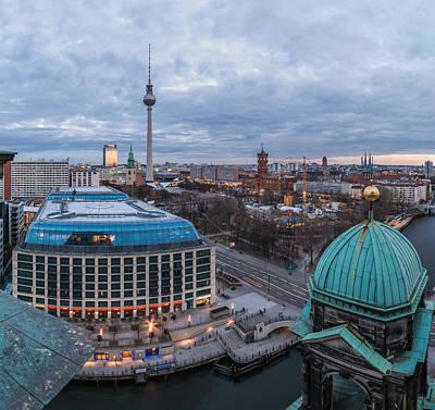Berlin - Potsdamer Platz Blue Hour Art Print by Jean Claude Castor