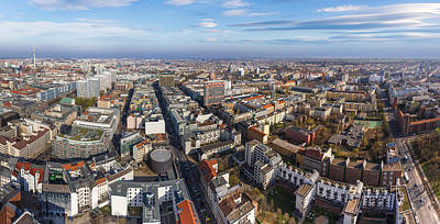 Photograph - Berlin Aerial Panorama by Semmick Photo