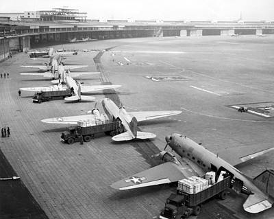 Berlin Airlift Cargo Aeroplanes, 1948-9 Art Print by Science Photo Library