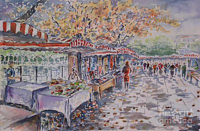 River Spree Painting - Berlin At The Armoury Art Market by Alfred Motzer