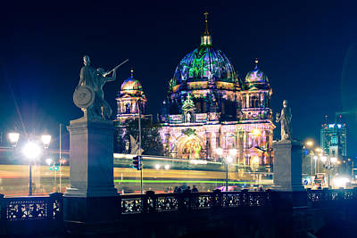 Berlin Photograph - Berlin Cathedral - Festival Of Lights 2013 by Alexander Voss