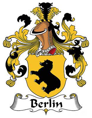 Genealogy Digital Art - Berlin Coat Of Arms German by Heraldry
