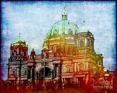 Painting - Berlin Dome by Lutz Baar