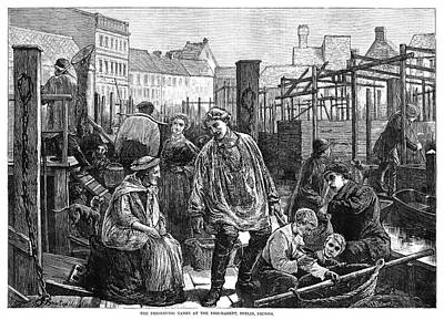 Berlin Germany Painting - Berlin Fish Market, 1874 by Granger